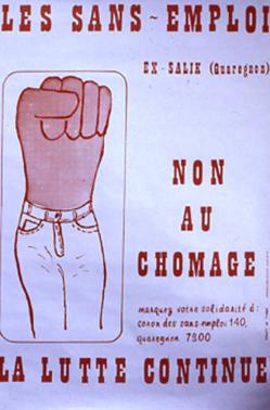 Affiche de la lutte chez Salik, s.d. (Collection CARHOP).