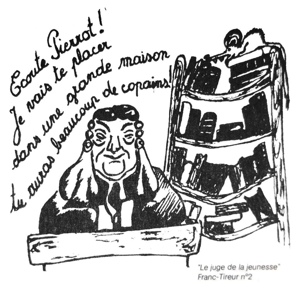 Dessin « Ecoute Pierrot », dans La Gazette Parallèle, n° 16, octobre-novembre 1979 (Bibliothèque de droit de l'UCLouvain).