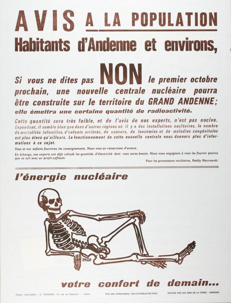 Affiche Nucléaire Les Amis de la Terre, 1978, Collection ETOPIA.
